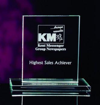 Bespoke Medium 17.5cm Jade Rectangle Award
