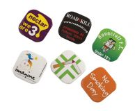 Promotional 32mm Square Button Badge