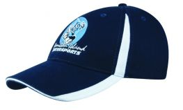 Promotional Baseball Cap with Inserts on Peak and Crown