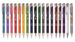 100 x Full Colour Printed Crosby Soft Touch Ballpens