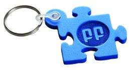 Promotional Embossed Foam Keyring