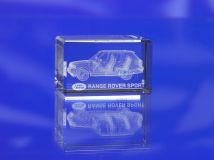 3D Crystal Paperweight Block