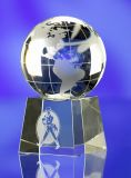 Promotional Crystal Paperweight Globe