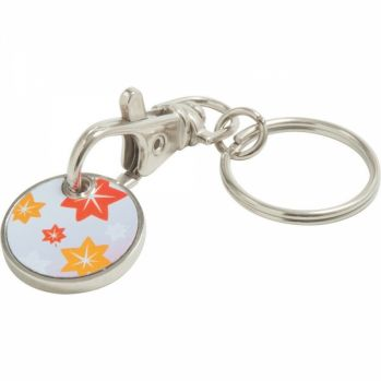 Printed Full Colour Trolley Coin Keyring