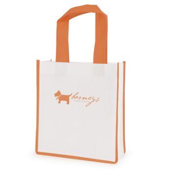 Printed Mini Contrast Shopping Bag