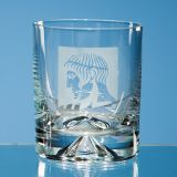 Engraved Dimple Base Whisky Tumbler