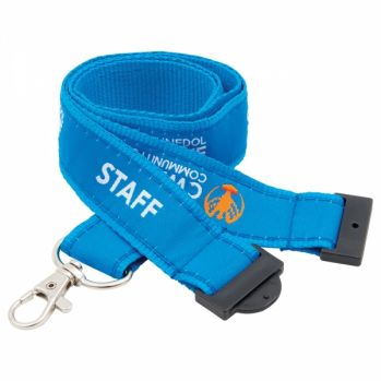 Promotional 20mm Woven Applique Lanyards