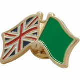 Promotional  Stamped Iron Soft Enamel infill badge