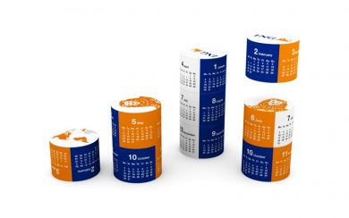 Promotional Magnetic 360 Round calendar