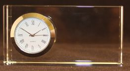 Engraved Crystal Olympic Clock