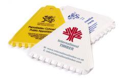 Promotional Triangle Ice Scraper -  Coloured Plastic
