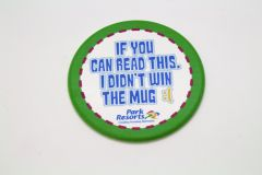 Promotional Recycled Plastic Circle Coaster - Coloured