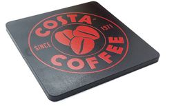 Promotional Deluxe Square Coaster - Coloured Recycled Plastic