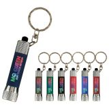 Promotional McQueen Soft Touch Torch Keyring - Engraved