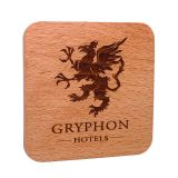 Promotional Real Wood Coaster Laser Engraved