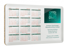 Printed Large Metal Calendar Coaster