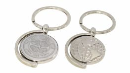 Engraved Spinner Metal Map Keyring