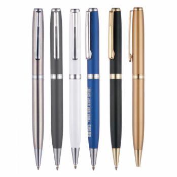 Branded Boston Clik-Sure Ball Pen Gold Trim