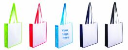 Printed Non Woven Contrast Shopping Bag with Coloured Gusset