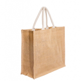 Printed Jute Shopping Bag