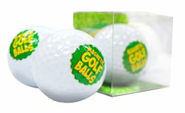 Magnetic Printed Golf Ball - white board magnet