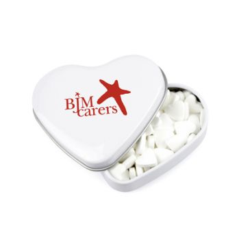 Promotional Heart Mint Tin