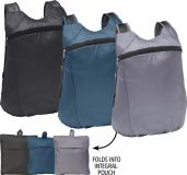 Promotional Fold Up Backpack -  Boxley