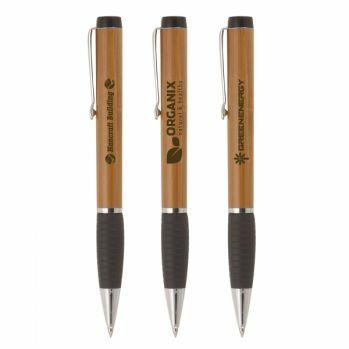 Engraved Dante Bamboo Ballpoint Pen