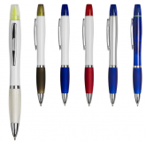 Promotional Curvy Contour Ballpen with Highlighter
