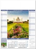 Promotional 6 Page Pictorial Memo Wall Calendars - Various Title
