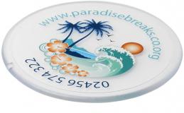 Printed Renzo Round Plastic Coaster