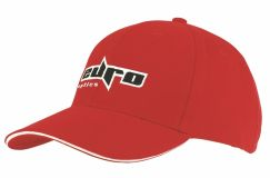 Promotional 6 Panel Heavy Brushed Cotton Cap with Sandwich
