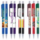 Full Colour Printed Astaire Chrome Pen with Rubber Grip