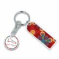 Recycled Eco Trolley Mate Keyring - Rectangle