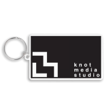 Recycled Eco 80mm Rectangle Keyring