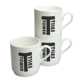 Branded Stacking Bone China Mug