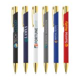 Full Colour Printed Gold Crosby Soft Touch Pen