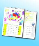Bespoke A3 Wiro-Bound Wall Calendar