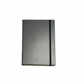Branded A5 Casebound Notebook with Carbon Fibre Effect