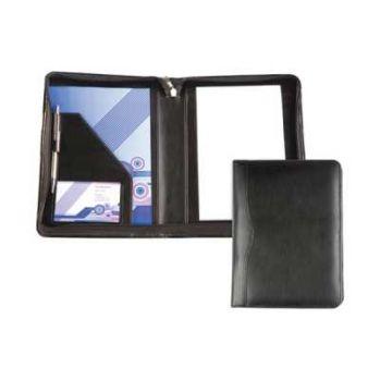 Branded Balmoral Leather A5 Zipped Folder