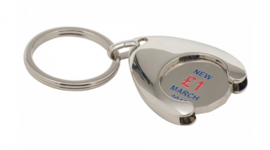 Branded Enamel Wishbone Trolley Coin Keyring