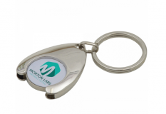 Branded Full Colour Wishbone Trolley Coin Keyring