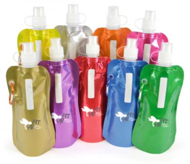 Branded Metallic Fold Up Bottle