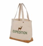 Branded Napa Cotton & Cork Tote Bag