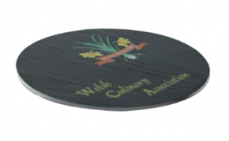 Branded Slate Coaster - Round