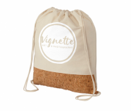 Branded Woods Cotton & Cork Drawstring Backpack