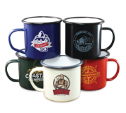 Printed 10oz Coloured Enamel Mug - Wraparound Print