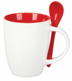 Promotional Coffee Mug with Spoon (260ml)