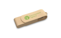 ECO FRIENDLY Recycled Paper 2GB Twister USB Memory Stick