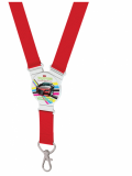 Lanyard with Full Colour Round Disc